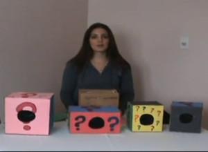 Easy to make mystery box for preschool kids.
