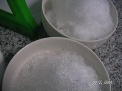 Snow melting science experiment for preschoolers learning about science.