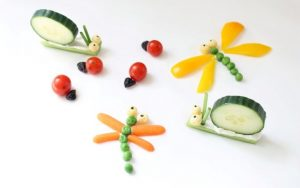Veggie Bug snack idea for kids.