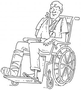 Special needs and medical coloring pages for preschool kids.