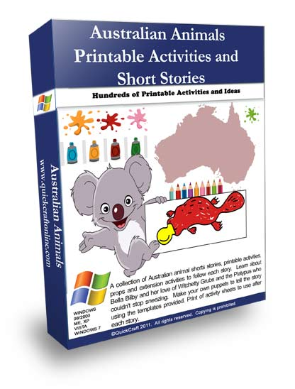 Australian animals for kids lesson and activities.