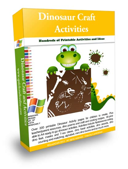 Dinosaur lesson activities and printables for kids.