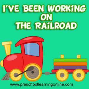 iIve been working on the railroad song and creative movement activity.