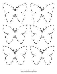 Butterfly stencil cut out
