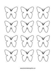Small multiples butterfly template printable.