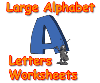 Large printable letters for teaching ABC's and alphabet.