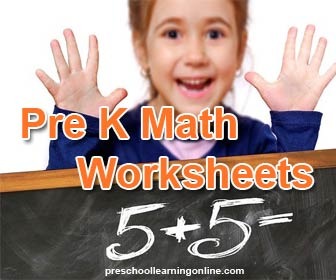 Pre k Math worksheets and printables for kids