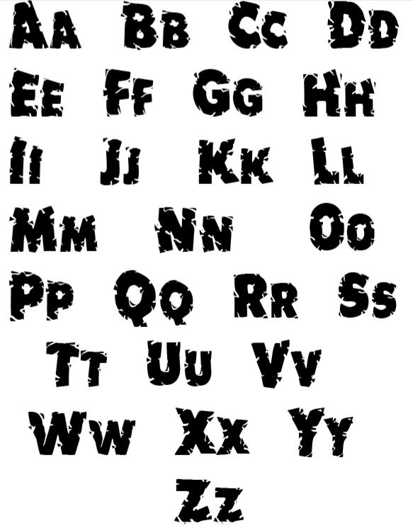 Alphabet Letter Stencil printout of letters