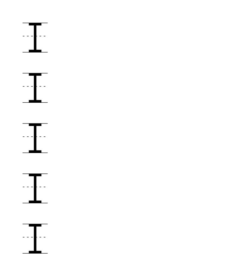 Letter I uppercase printable