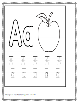 Uppercase & lowercase letter tracing worksheets for preschool and kindergarten.