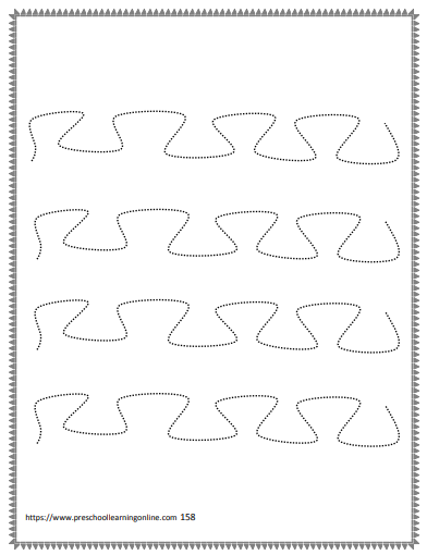 Tracing curved lines worksheets help preschool and kindergarten kids to print and write better