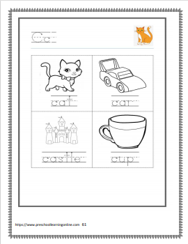 Letter c tracing worksheets and learning worksheets.
