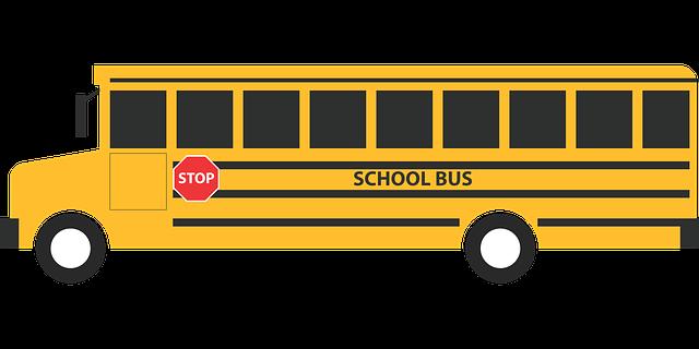 School bus vehicle for transportation.