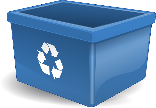 Recycling bin for recycling materials